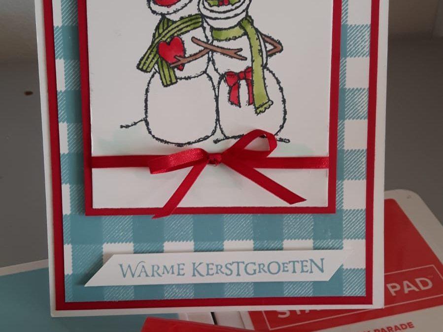 Spirited Snowmen Kerstkaart