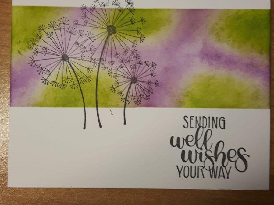 Beterschap- en rouwkaarten met Dandelion Wishes